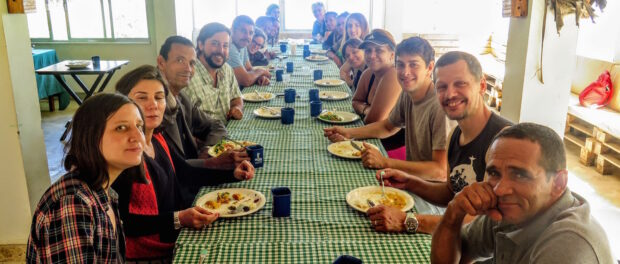 Exchange members feast on locally-sourced and designed cuisine