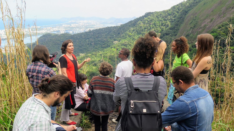 Public defender Maria Lúcia Pontes describes the importance of environmental works like Vale Encantado's in a community's legal defense