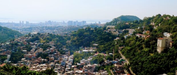 The view from Prazeres, overlooking Santa Teresa and downtown Rio