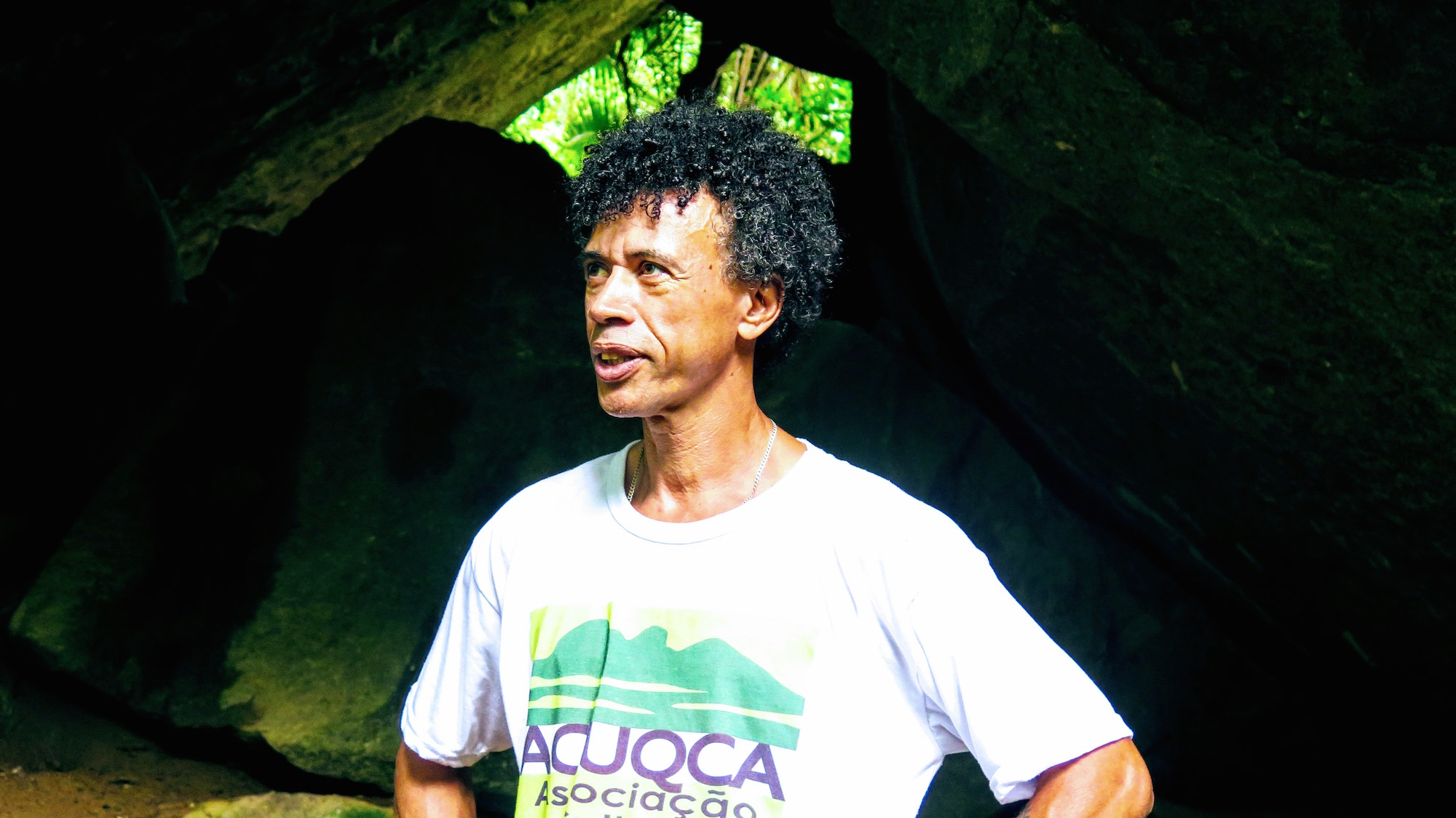 Adilson Almeida speaks of the sacred site of the quilombo