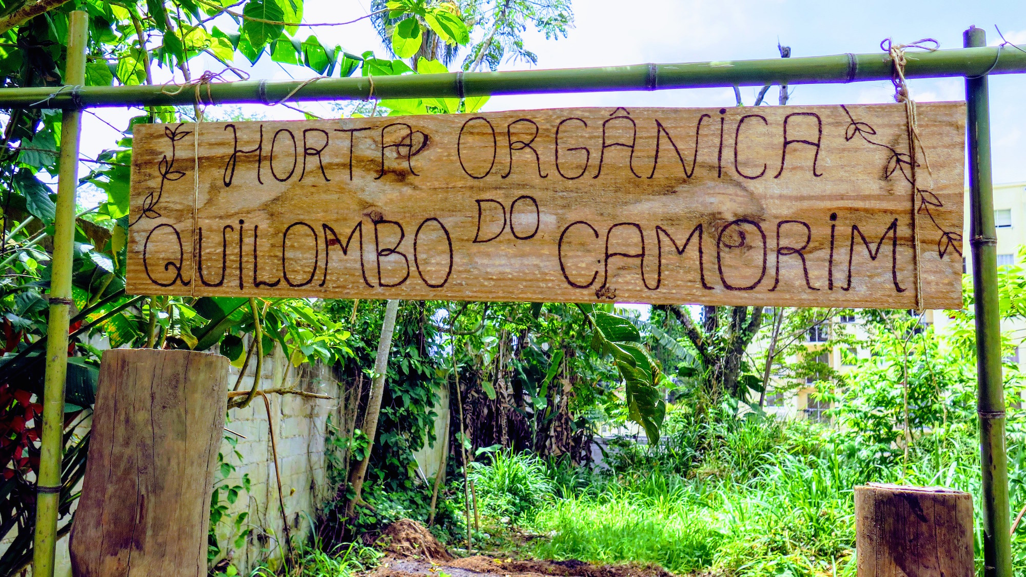 Organic garden at the Quilombo do Camorim