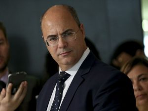 The governor-elect of Rio de Janeiro, Wilson Witzel, speaks to the press after meeting with President Michel Temer, Palácio do Planalto.