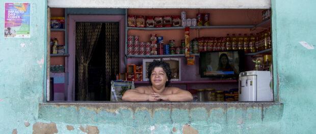 Long-time shop keeper in Rio de Janeiro's first favela, Providencia. Photo by Antoine Horenbeek