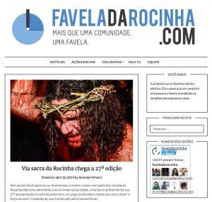 FavelaDaRocinha.com homepage