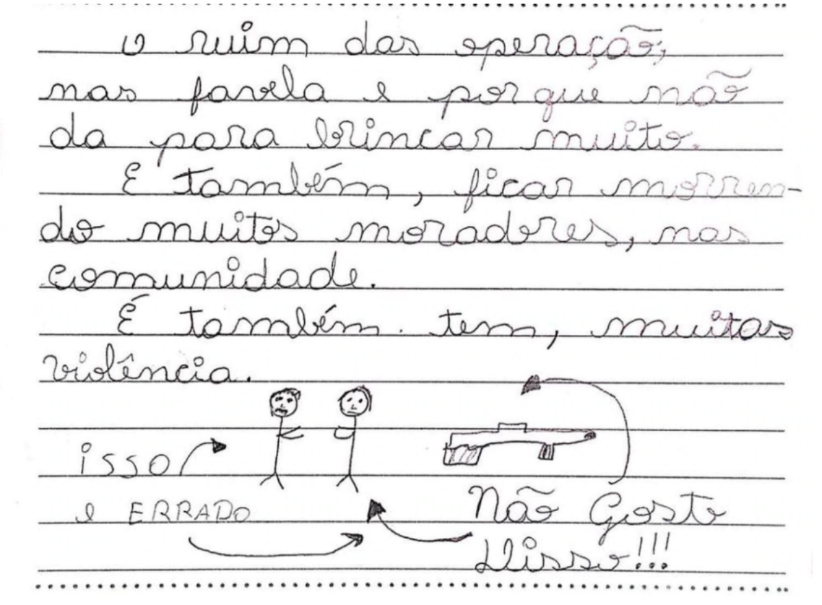 "Letters from the Children of Maré Favela: ""I don't like"