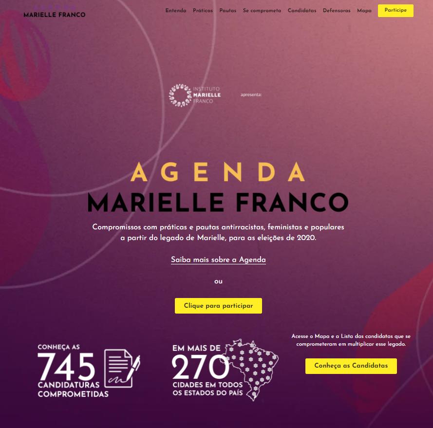 Agenda Marielle, a public commitment to the legacy of Marielle Franco promoted by Marielle Franco Institute.
