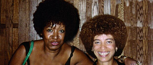 Lélia Gonzalez and Angela Davis in the US in the 1984
