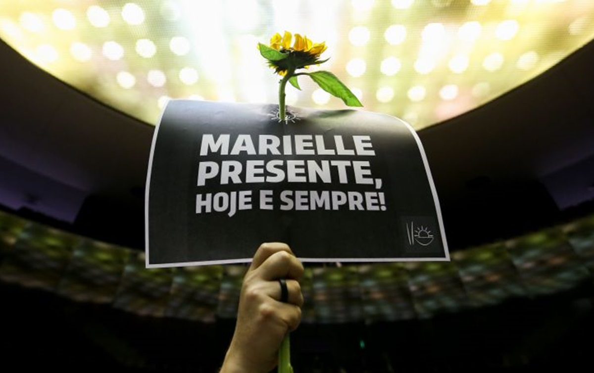 'Marielle present, today and forever!' Photo by: Marcelo Camargo/Agência Brasil
