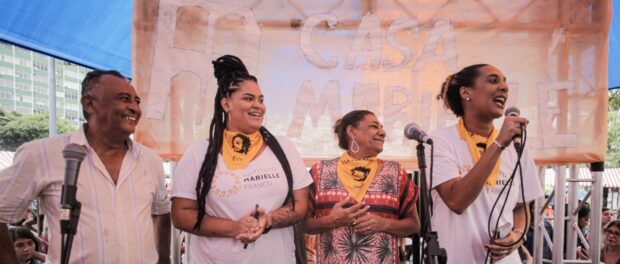 Marielle's family in the inauguration of Casa Marielle, in 2019, in Rio. Photo by: Mayara Donaria