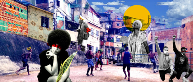 Racism and anti-racism in the favelas. Original artwork by David Amen