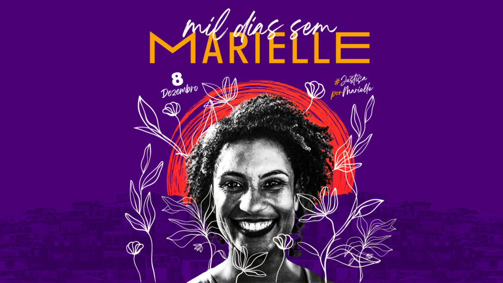 The image reads '1000 days without Marielle'