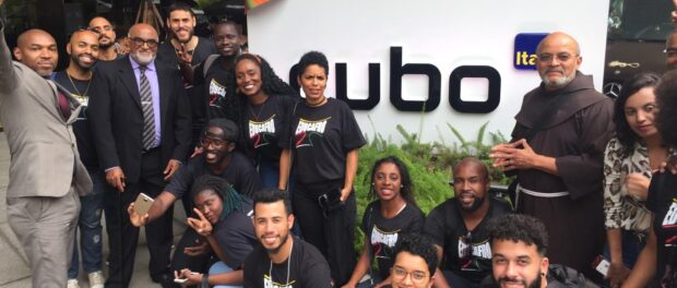 EducafroTech students visit Cubo technological hub along with Friar David. Photo: EducafroTech