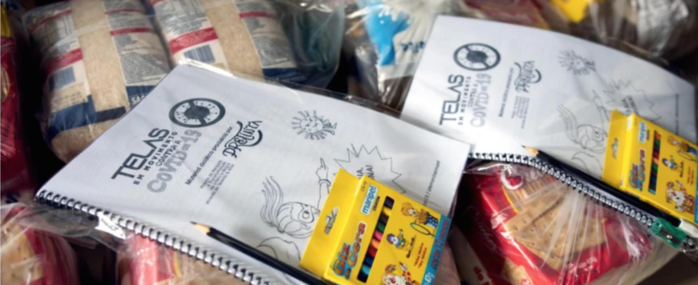 Delivery of the Telas da Esperança (Screens of Hope) Kit in Belém, Pará. (Photos: Ursula Bahia and Ariela Motizuki)